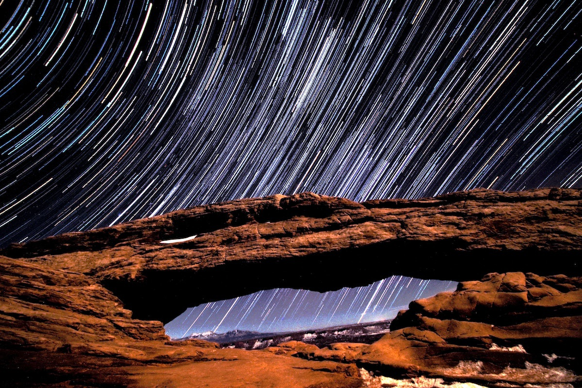 These star patterns are always glued together from a series of photos. That make it easier to control exposure